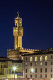 Palazzo Vecchio in evening, Florence, Italy Stock Photo