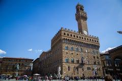 Palazzo Vecchio a Firenze, Italia Immagine Stock Libera da Diritti
