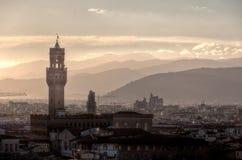 Palazzo Vecchio, Florença, Firenze, Toscany, Itália Fotografia de Stock