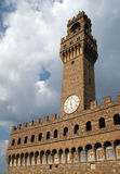 Palazzo Vecchio in Florence Italy. A wonderful view of the tower of Palazzo Vecchio in Florence Italy Stock Images