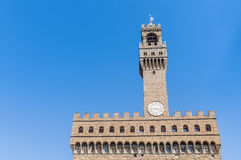 The Palazzo Vecchio in Florence, Italy. Royalty Free Stock Photos