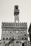 Palazzo Vecchio, Florence, Italy, colorless Royalty Free Stock Images