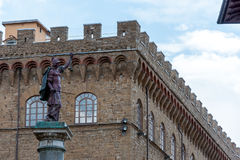 Palazzo vecchio in Florence, Italy. Details of Palazzo Vecchio in Florence, Italy Stock Images