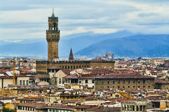Palazzo Vecchio in Florence, Italy. Royalty Free Stock Image