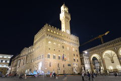 Palazzo Vecchio Florence Italy at night Royalty Free Stock Image