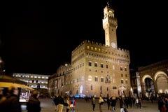 Palazzo Vecchio in Florence, Italy. Palazzo Vecchio night view. Florence, Tuscany, Italy Royalty Free Stock Photo