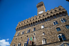 Palazzo Vecchio in Florence, Italy. Palazzo Vecchio in Florence in a spring day Royalty Free Stock Photos