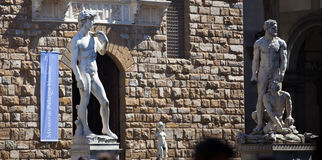 Palazzo Vecchio in Florence, Italy. Palazzo Vecchio in Florence in a spring day Stock Photos