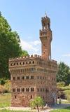 Palazzo Vecchio, Florence. Klagenfurt. Miniature Park Stock Photo