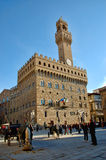 The Palazzo Vecchio Florence Stock Photos