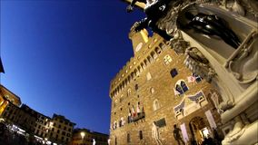 Palazzo Vecchio in Florence, Tuscany, Italy stock footage