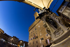 Palazzo Vecchio in Florence in Tuscany, Italy Royalty Free Stock Image