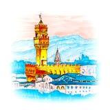 Palazzo Vecchio in Florence, Tuscany, Italy Stock Image