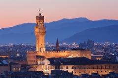 Palazzo Vecchio in Florenz Stockbild
