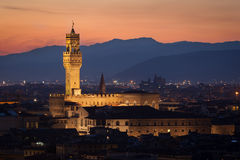 Palazzo Vecchio, Florenz Lizenzfreies Stockbild