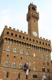 Palazzo vecchio in Florenz Stockfoto