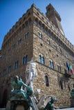 Palazzo Vecchio in Florenz, Italien Stockbild