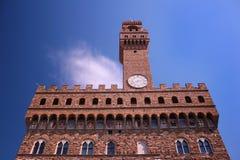 Palazzo Vecchio gamla Palacein Florence, Italien Arkivbilder