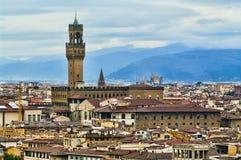 Palazzo Vecchio i Florence, Italien Royaltyfri Bild