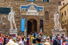 Palazzo Vecchio i Florence, Italien Royaltyfria Foton