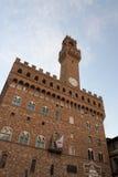 Palazzo Vecchio i piazzadellaen Signoria i Florence Arkivfoto