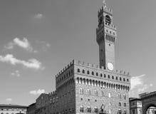 Palazzo Vecchio i piazzadellaen Signoria i Florence, Tuscany Royaltyfri Foto