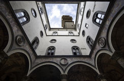 Palazzo Vecchio inside courtyard Royalty Free Stock Images