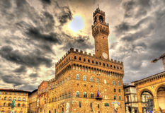 Palazzo Vecchio, l'hôtel de ville de Florence Image stock