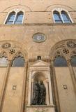 Palazzo Vecchio in Marktplatz della Signoria in Florenz Lizenzfreies Stockfoto