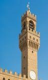 Palazzo Vecchio in Marktplatz della Signoria in Florenz Stockbilder