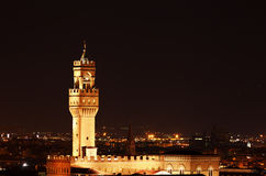 Palazzo Vecchio in the Night Royalty Free Stock Photography