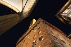 Palazzo Vecchio och Piazzadella Signoria i Florence. Härligt Royaltyfria Bilder