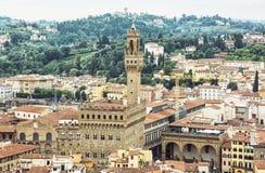Palazzo Vecchio (Oud Paleis), Florence, Italië, wieg van ren Stock Fotografie