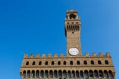 Palazzo Vecchio and Piazza della Signoria Stock Image