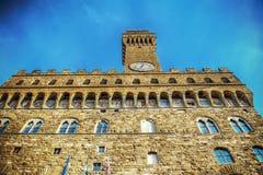 Palazzo Vecchio in Piazza della Signoria Stock Images