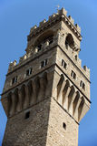 the Palazzo Vecchio's tower in Florence, Royalty Free Stock Photography