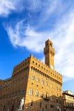 Palazzo Vecchio Signoria square landmark in Florence, Italy. Lon Stock Image