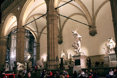 Palazzo Vecchio Statues Florence Italy Stock Photos