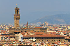 Palazzo Vecchio Tower / Campanile, Florence royalty free stock image