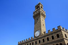 Palazzo Vecchio tower Royalty Free Stock Image