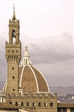 Palazzo vecchio tower and dome Stock Images
