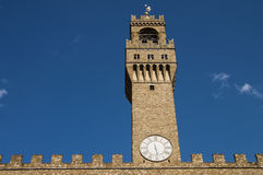 Palazzo Vecchio tower, Florence. Royalty Free Stock Photography