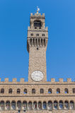 The Palazzo Vecchio, town hall of Florence, Italy. The Palazzo Vecchio (Old Palace) a massive, Romanesque, crenellated fortress-palace, is the town hall of Stock Photography