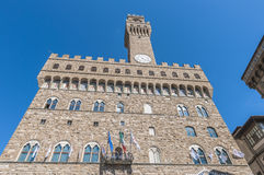 The Palazzo Vecchio, town hall of Florence, Italy. Stock Photos