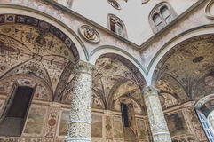 The Palazzo Vecchio, the town hall of Florence, Italy. The Palazzo Vecchio (Old Palace) a massive, Romanesque, crenellated fortress-palace, is the town hall of Royalty Free Stock Photos