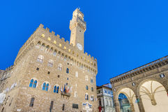 The Palazzo Vecchio, the town hall of Florence, Italy. Stock Images