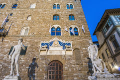 The Palazzo Vecchio, the town hall of Florence, Italy. Stock Photo