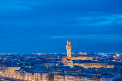 The Palazzo Vecchio, the town hall of Florence, Italy. Royalty Free Stock Images