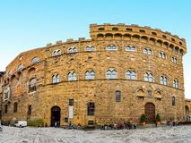 Palazzo Vecchio is town hall of Florence, Italy Royalty Free Stock Photo