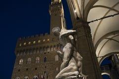 Palazzo Vecchio, view under the Loggia dei Lanzi Stock Images